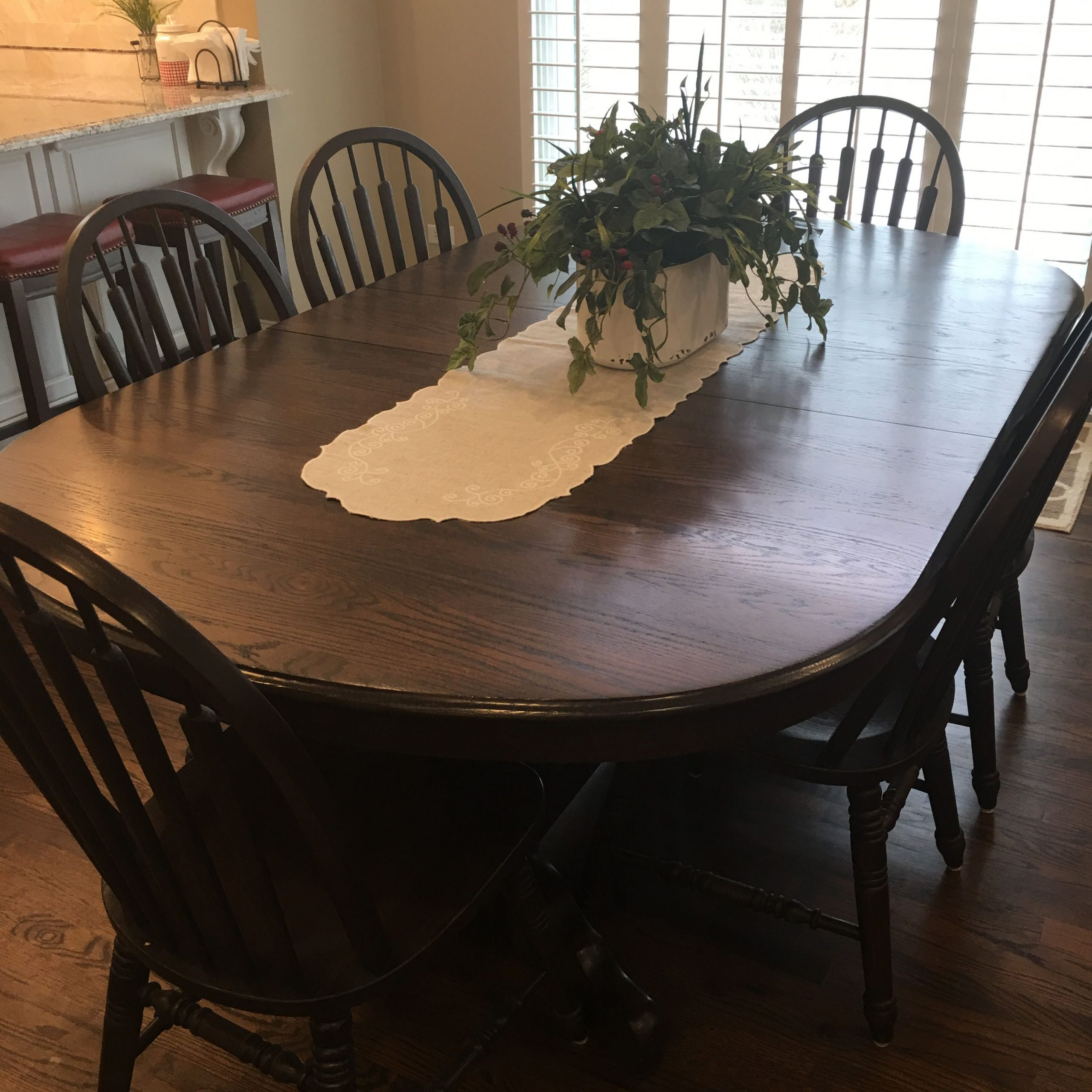 Refinished My Old Light Oak Table And Chairs (Image 23 of 25)