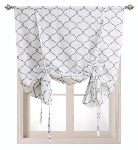Regal Home Collections Shabby Lattice Ki In Embroidered Chef Black 5 Piece Kitchen Curtain Sets (View 20 of 25)