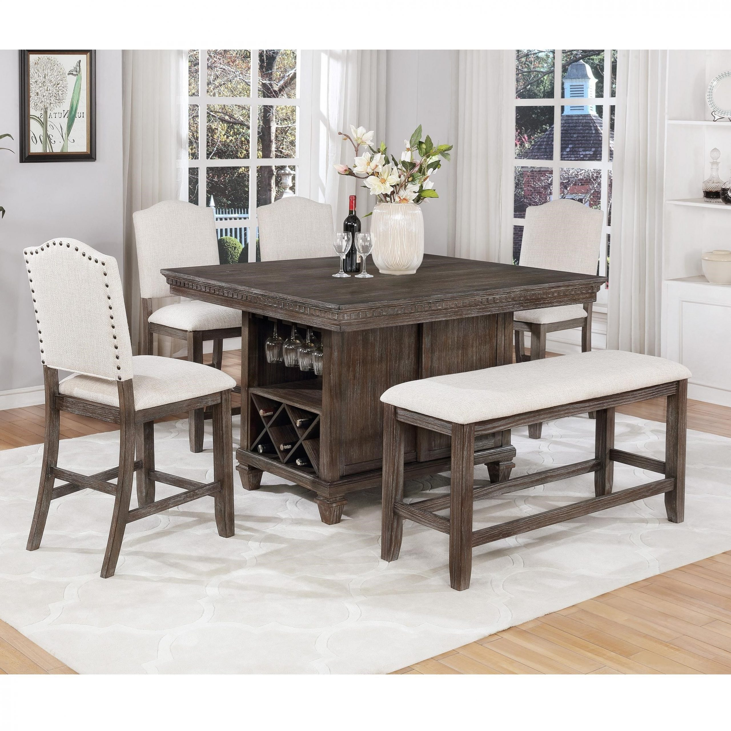 Regent 6 Piece Counter Height Dining Setdel Sol Cm At Del Sol Furniture With Regard To 2018 Avondale Counter Height Dining Tables (View 14 of 25)
