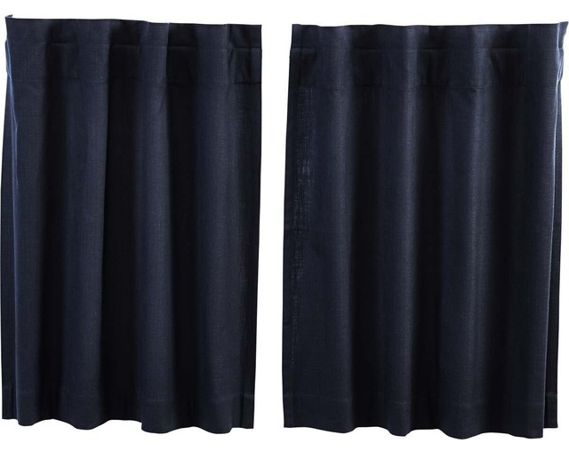 "Regina Navy Tier Curtains, Set Of 2, 36""x36"" Throughout Dakota Window Curtain Tier Pair And Valance Sets (View 17 of 25)"