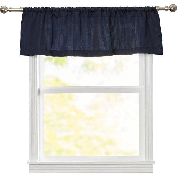 "Reinhardt Rod Pocket Tailored 54"" Window Valance Pertaining To Rod Pocket Cotton Solid Color Ruched Ruffle Kitchen Curtains (View 11 of 25)"