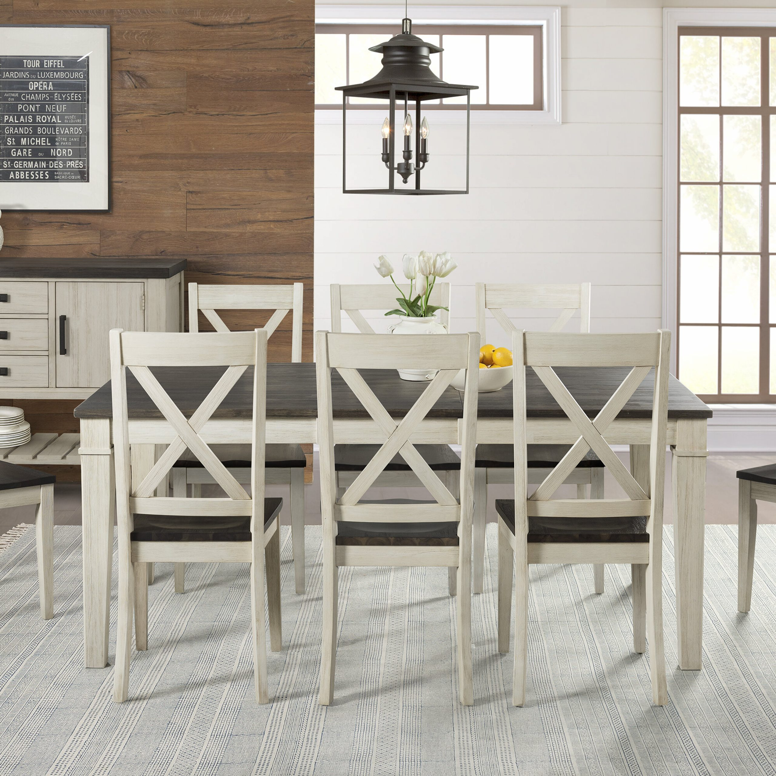 Ridgley 9 Piece Extendable Solid Wood Dining Set For Most Recently Released Rustic Brown Lorraine Extending Dining Tables (View 18 of 25)
