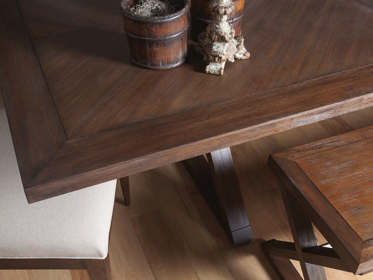 Ringo Rectangular Dining Table With 2018 Brown Wash Livingston Extending Dining Tables (View 17 of 25)
