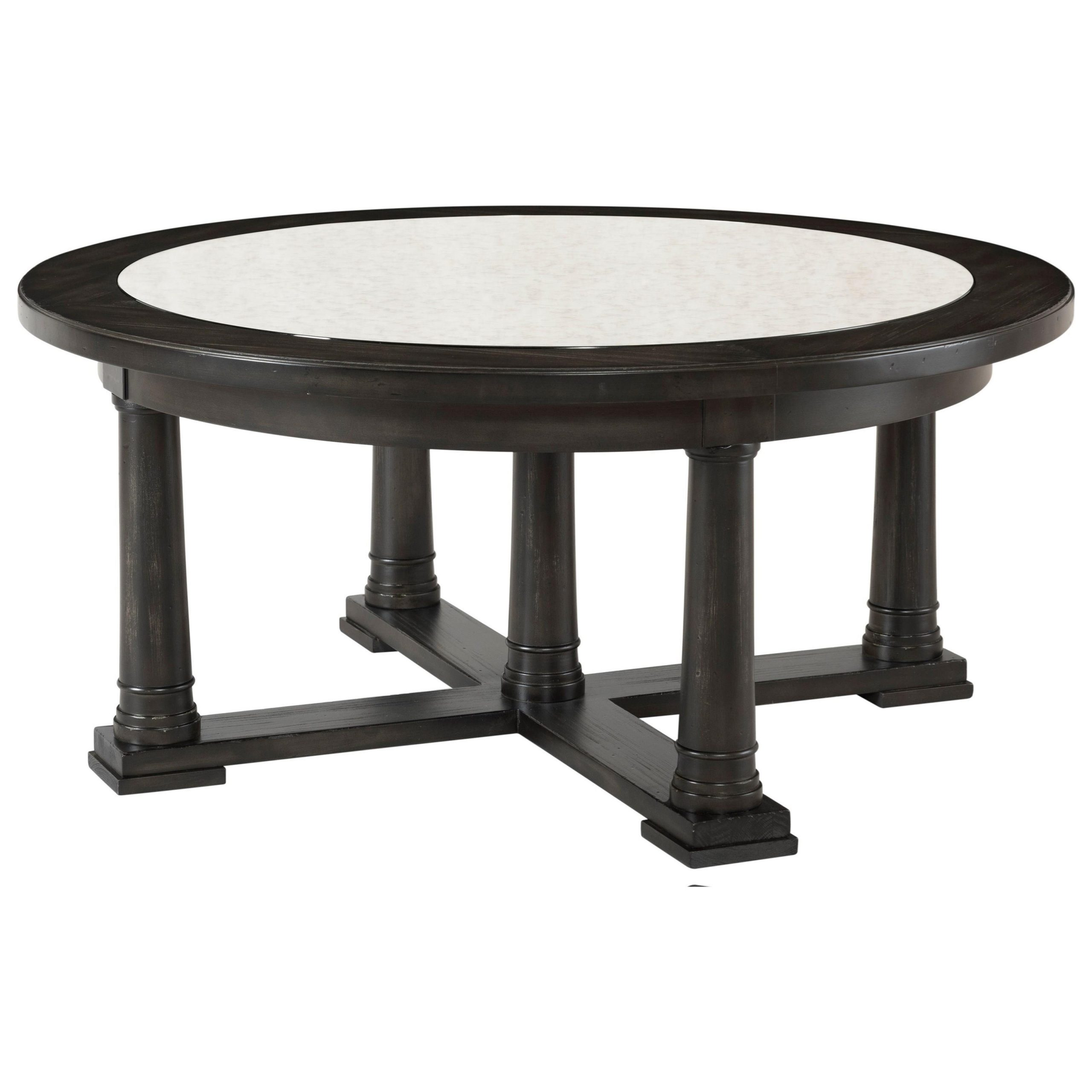 Riverside Furniture Avery Transitional Round Cocktail Table With Most Up To Date Avery Rectangular Dining Tables (View 25 of 25)