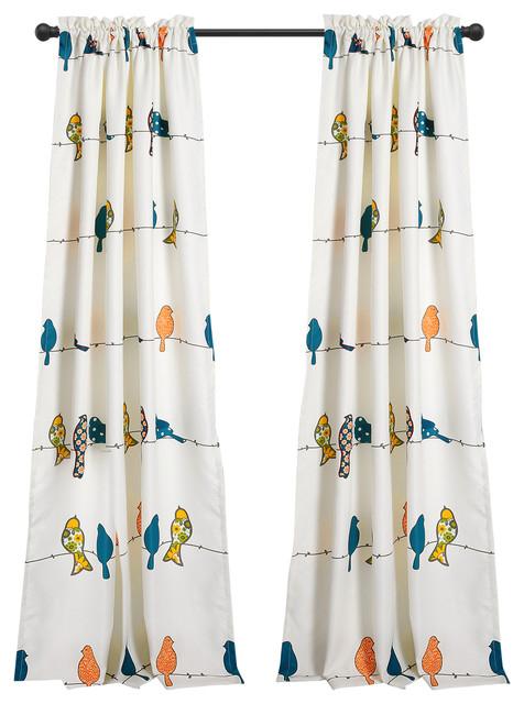Rowley Birds Room Darkening Window Curtain Multi Set 52X84+2 Pertaining To Rowley Birds Valances (View 16 of 25)
