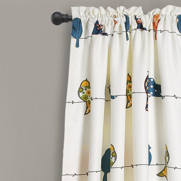 Rowley Birds Window Curtain Set (View 20 of 25)