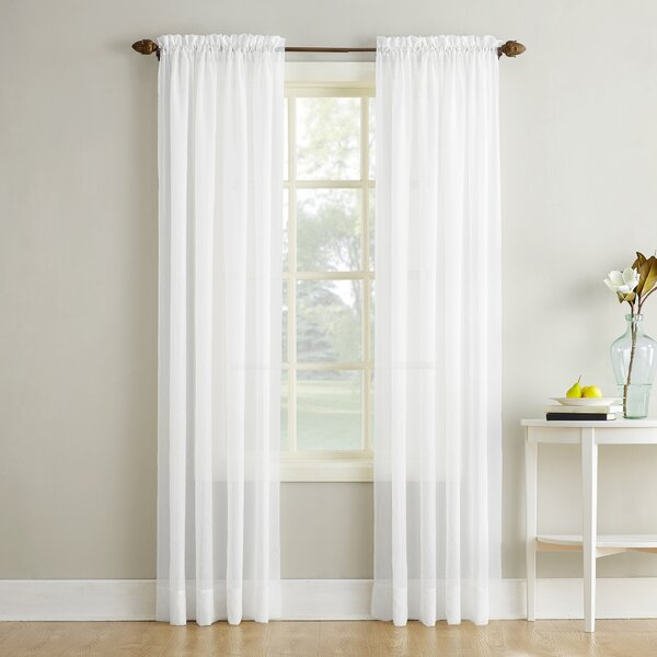 Royal Velvet Crushed Voile | Wayfair With Elegant Crushed Voile Ruffle Window Curtain Pieces (View 12 of 25)