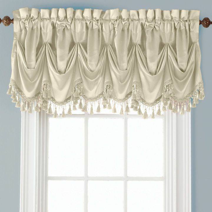 Royal Velvet Royal Velvet Hilton Rod Pocket Tuck Valance Regarding Marine Life Motif Knitted Lace Window Curtain Pieces (View 8 of 25)