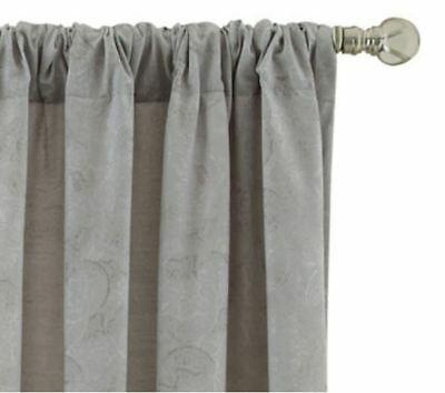 "Royal Velvet Serene Rod Pocket/back Tab Window Panel 50""w X Throughout Serene Rod Pocket Kitchen Tier Sets (View 19 of 25)"