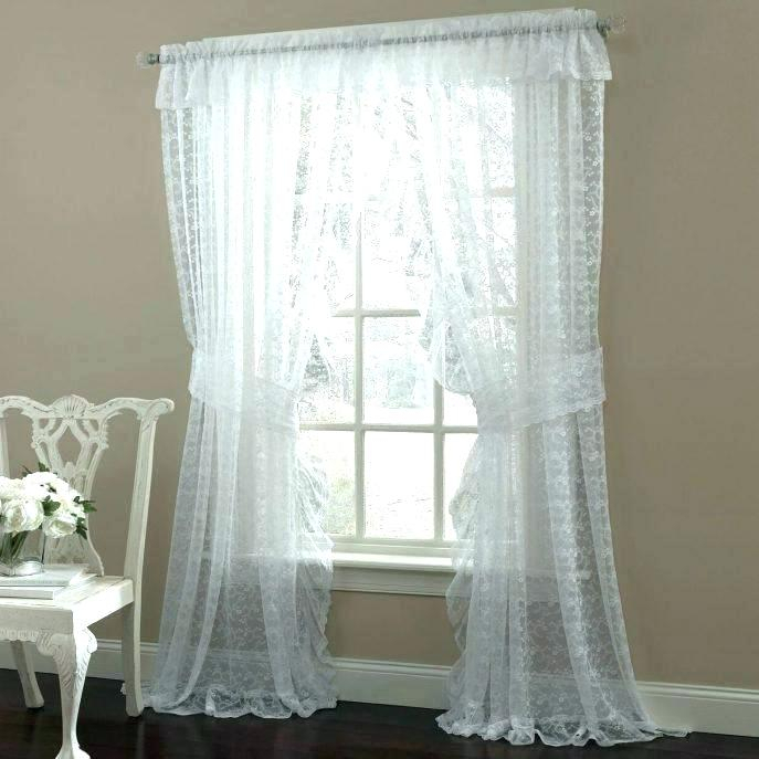 Ruffled Kitchen Curtains Intended For Elegant Crushed Voile Ruffle Window Curtain Pieces (View 21 of 25)