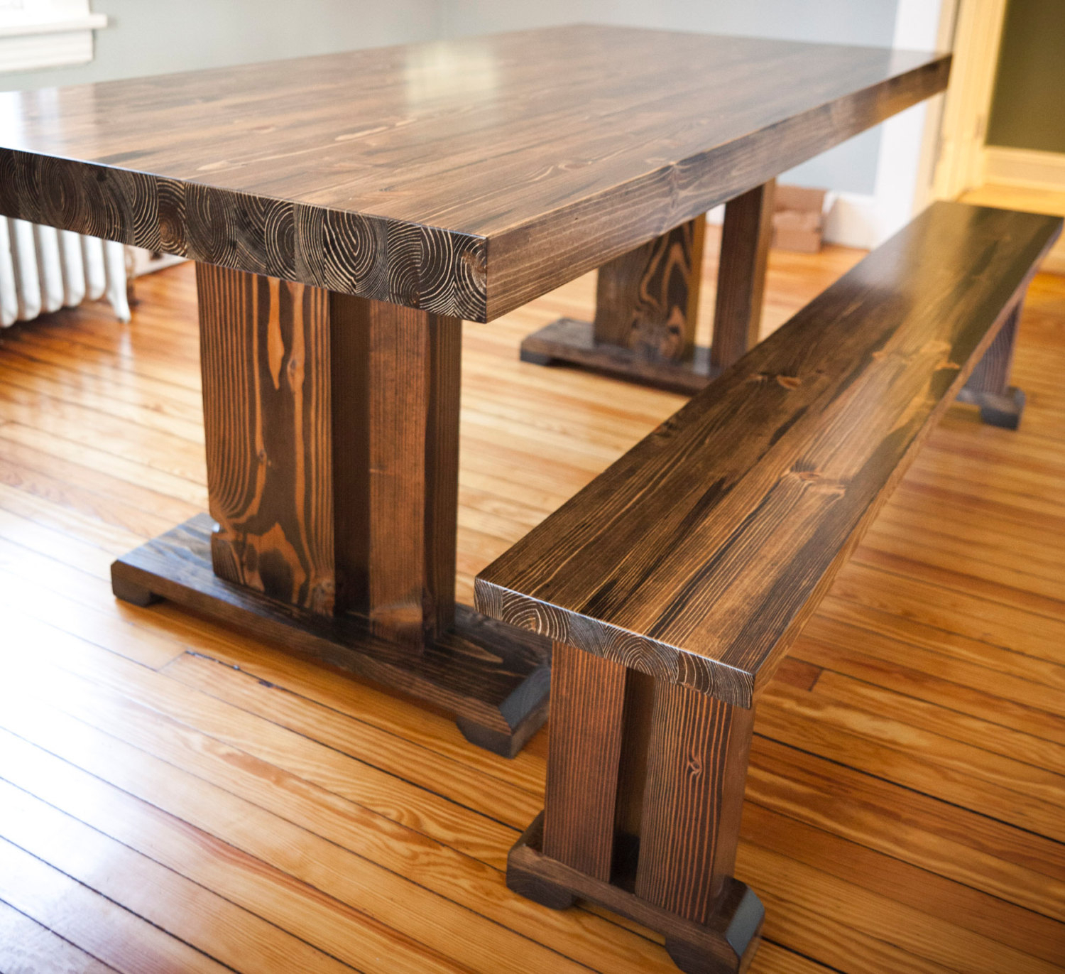 Rustic Bar Furniture Round Pedestal Dining Table On With In Most Recently Released Griffin Reclaimed Wood Bar Height Tables (View 23 of 25)