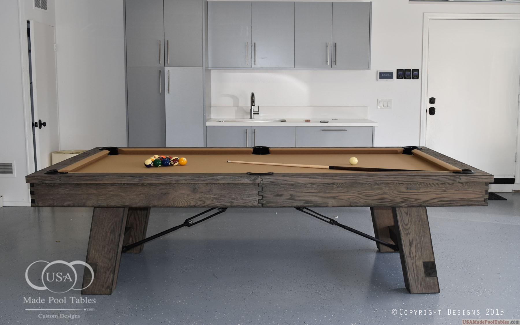 Rustic Billiard Tables : Rustic Pool Tables : Rustic Pool Pertaining To Most Current Gray Wash Benchwright Dining Tables (View 19 of 25)