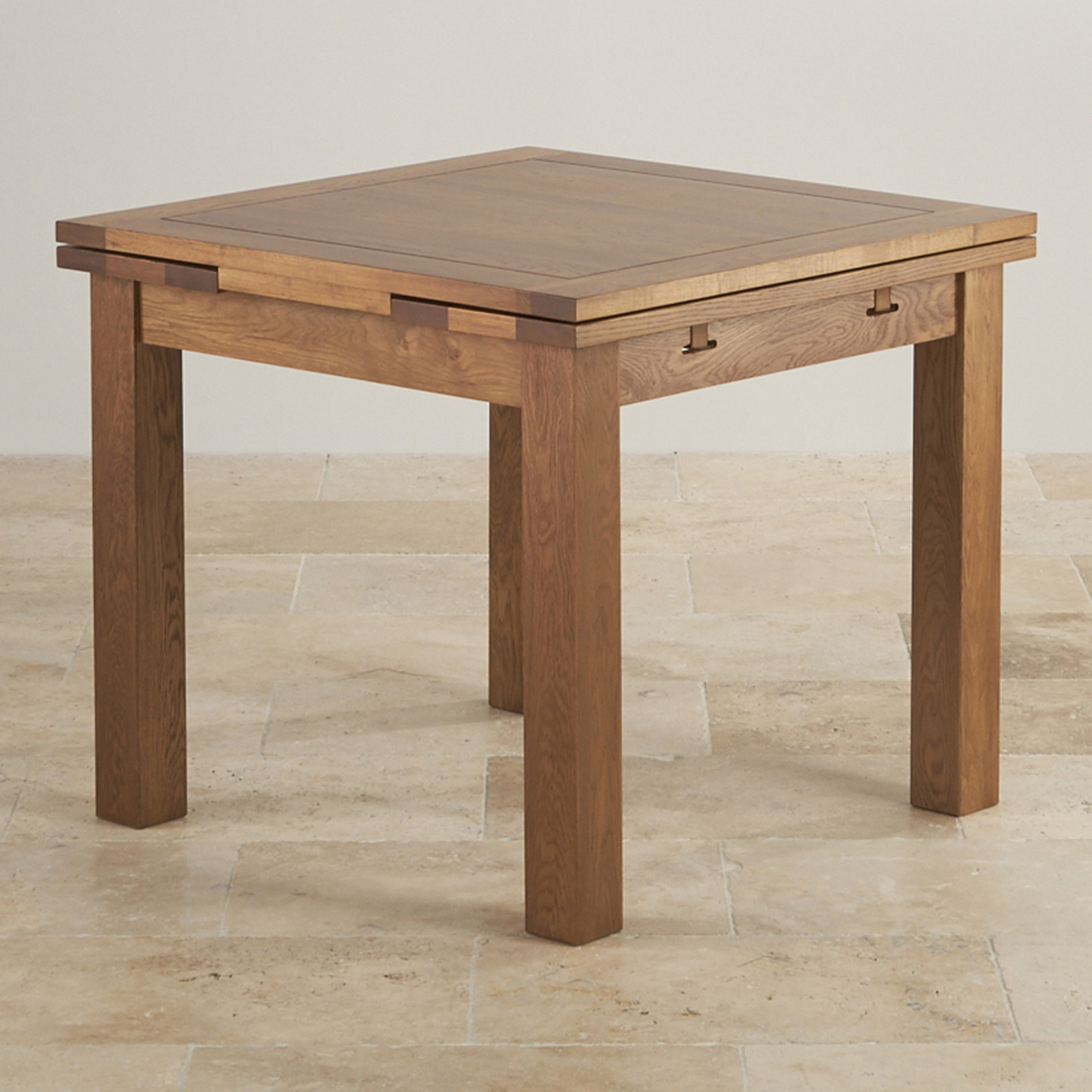 Rustic Extendable Dining Table – Palazzodalcarlo For Best And Newest Blackened Oak Benchwright Extending Dining Tables (View 10 of 25)