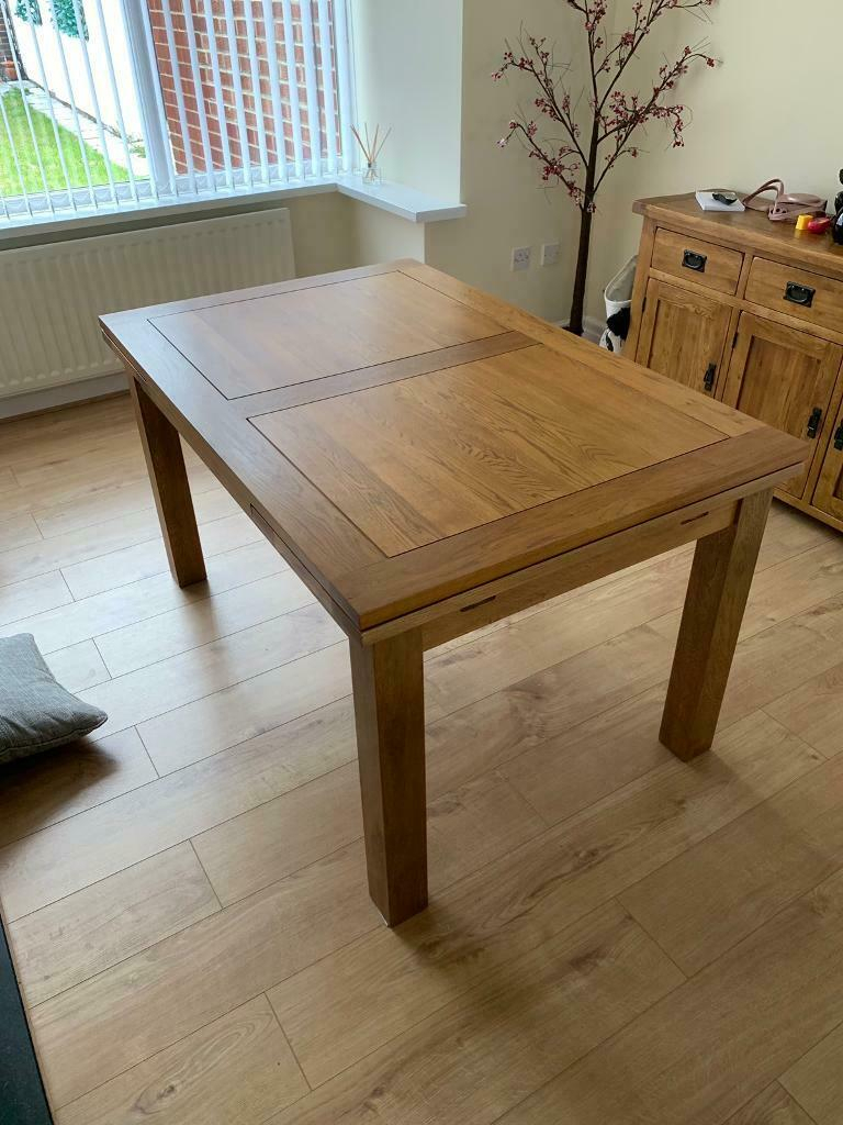 Rustic Oak Extendable Dining Table Oak Furnitureland | In North Shields, Tyne And Wear | Gumtree Inside Best And Newest Rustic Mahogany Extending Dining Tables (View 21 of 25)