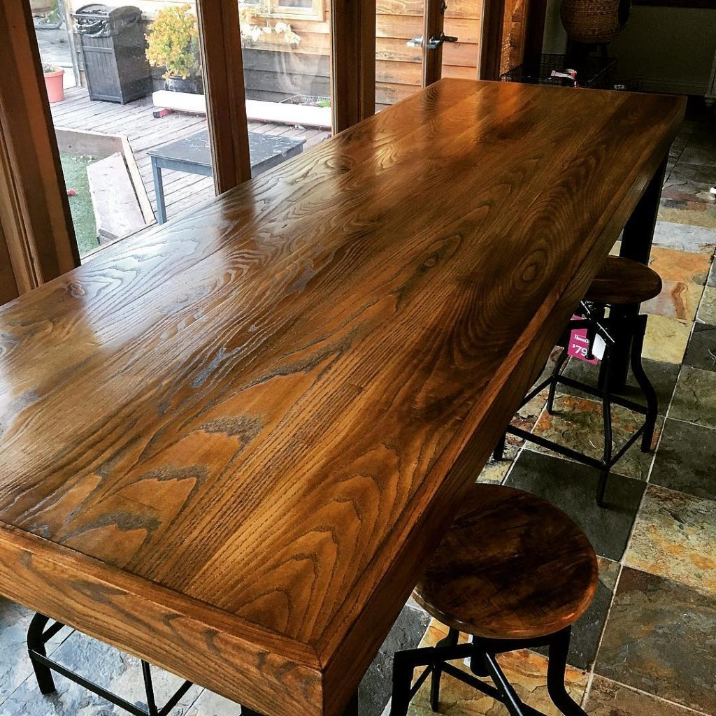 Rustic Pub Table – Valiant Woodworks With Most Up To Date Alder Pub Tables (Image 22 of 25)