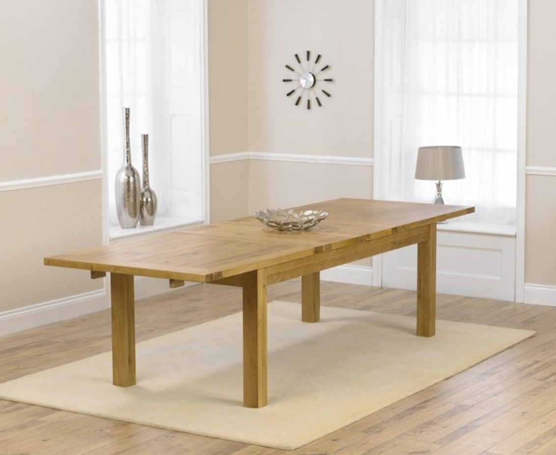 Rustique 220Cm Oak Extending Dining Table | The Great Inside 2017 Normandy Extending Dining Tables (View 18 of 25)