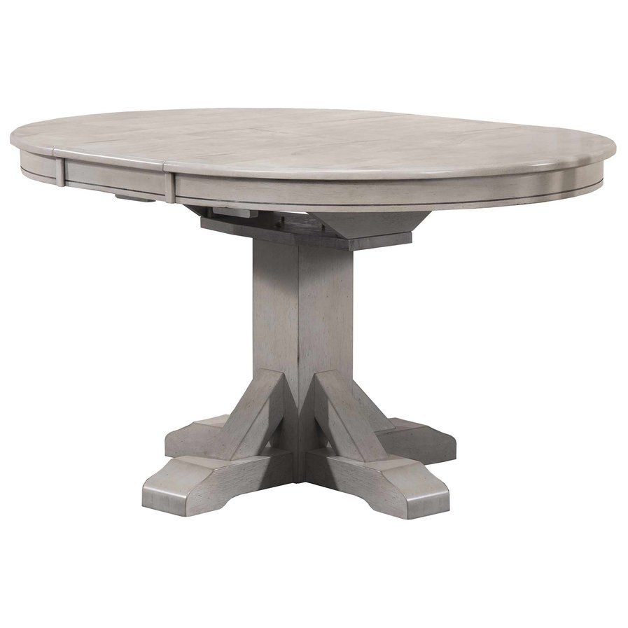 Rutledge Pedestal Dining Table With Butterfly Leaf | Kitchen Pertaining To Current Black Olive Hart Reclaimed Pedestal Extending Dining Tables (View 6 of 25)