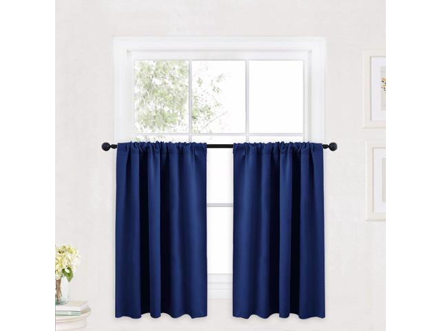 Ryb Home Kitchen Curtains 36 Inch Long For Small Window Treatment Valances, Rod Pocket Short Drapes For Bedroom, Half Window Tiers For Kids Throughout Rod Pocket Kitchen Tiers (View 9 of 25)
