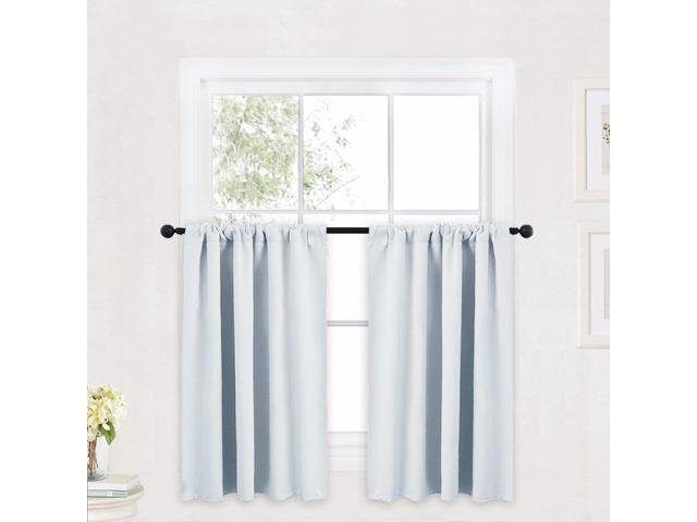 Ryb Home Kitchen Curtains And Valance Set, Room Darkening Curtain Tiers With Rod Pocket Top, Small Window Curtain Draperies For Nursery/dining Inside Kitchen Curtain Tiers (View 9 of 25)