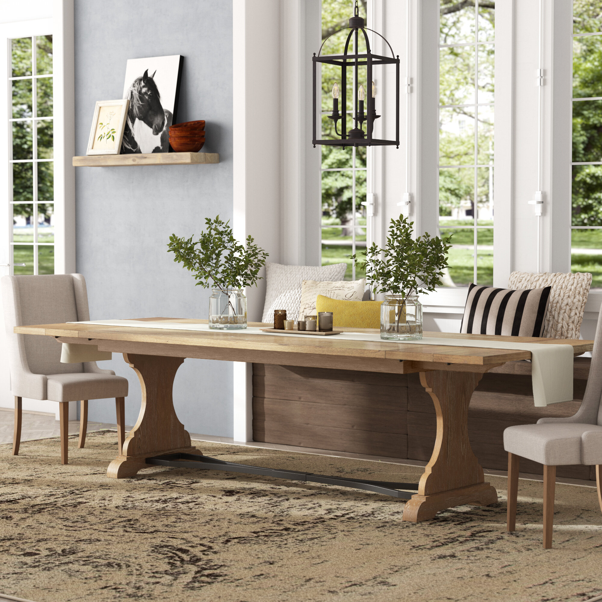 Saguenay Trestle Extendable Dining Table Inside Most Recently Released Mateo Extending Dining Tables (View 19 of 25)