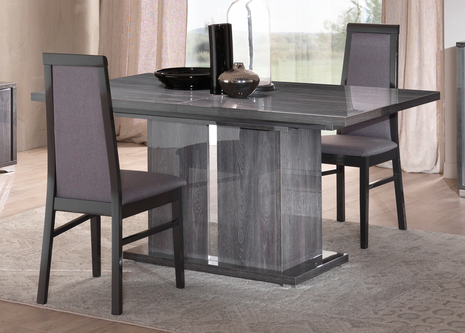 San Martino Armony Grey Extending Dining Table Pertaining To Latest Martino Dining Tables (View 12 of 25)