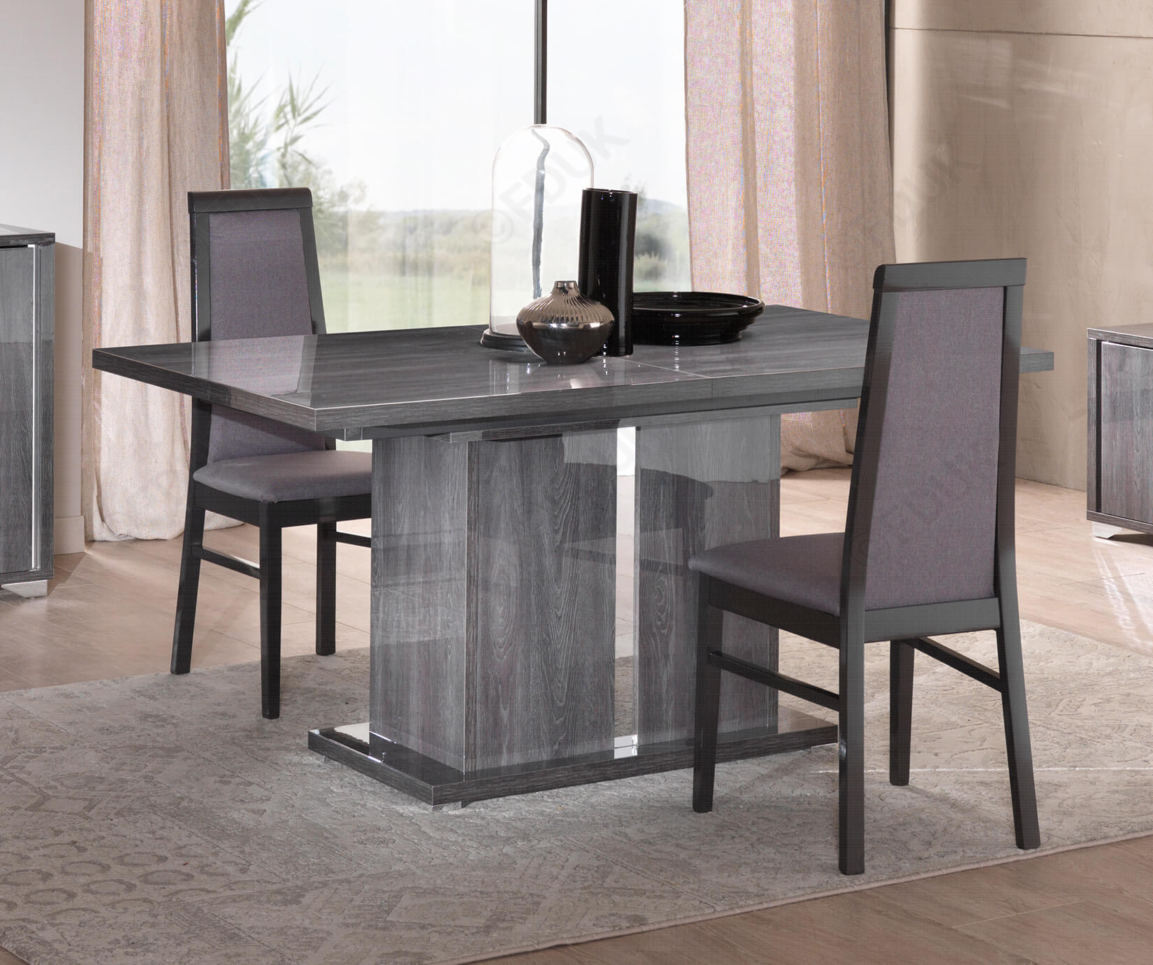San Martino Armony Rectangular Extension Dining Table With 6 Dining Chair Pertaining To Most Recently Released Martino Dining Tables (View 11 of 25)