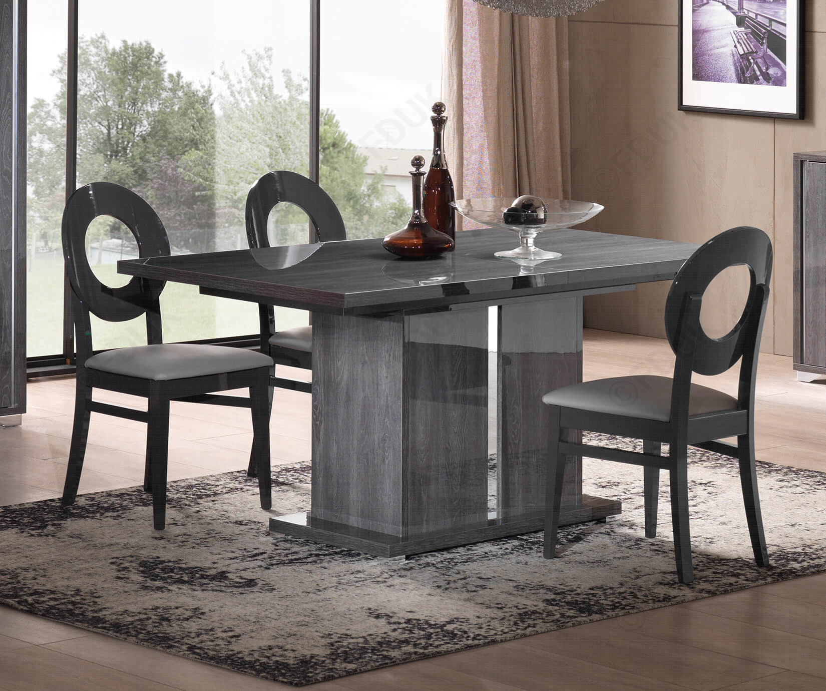 San Martino Armony Rectangular Extension Dining Table With 6 Oval Dining Chair Regarding Current Martino Dining Tables (View 2 of 25)