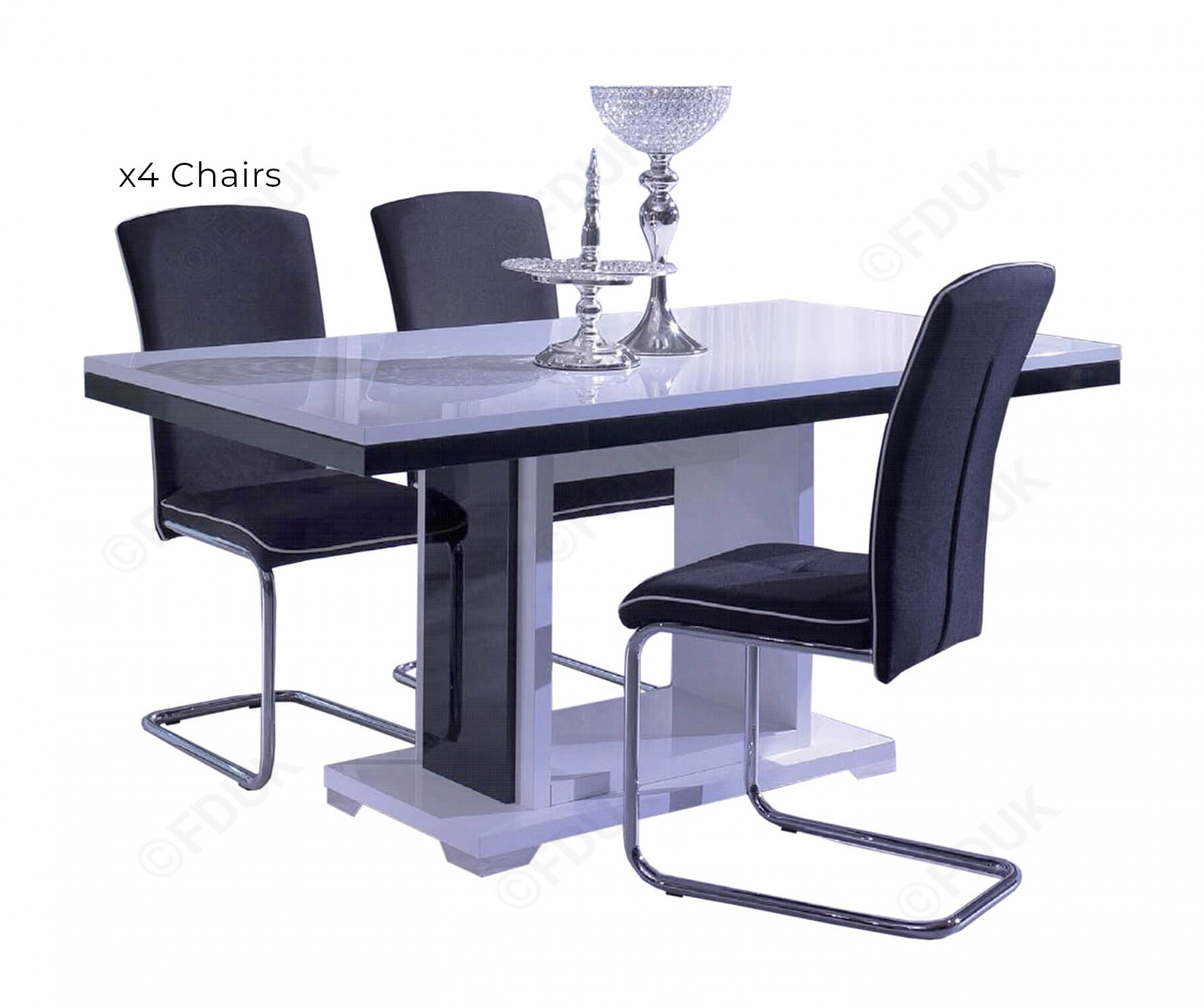 San Martino Blazer Dining Table With 4 Chairs Within Newest Martino Dining Tables (View 8 of 25)