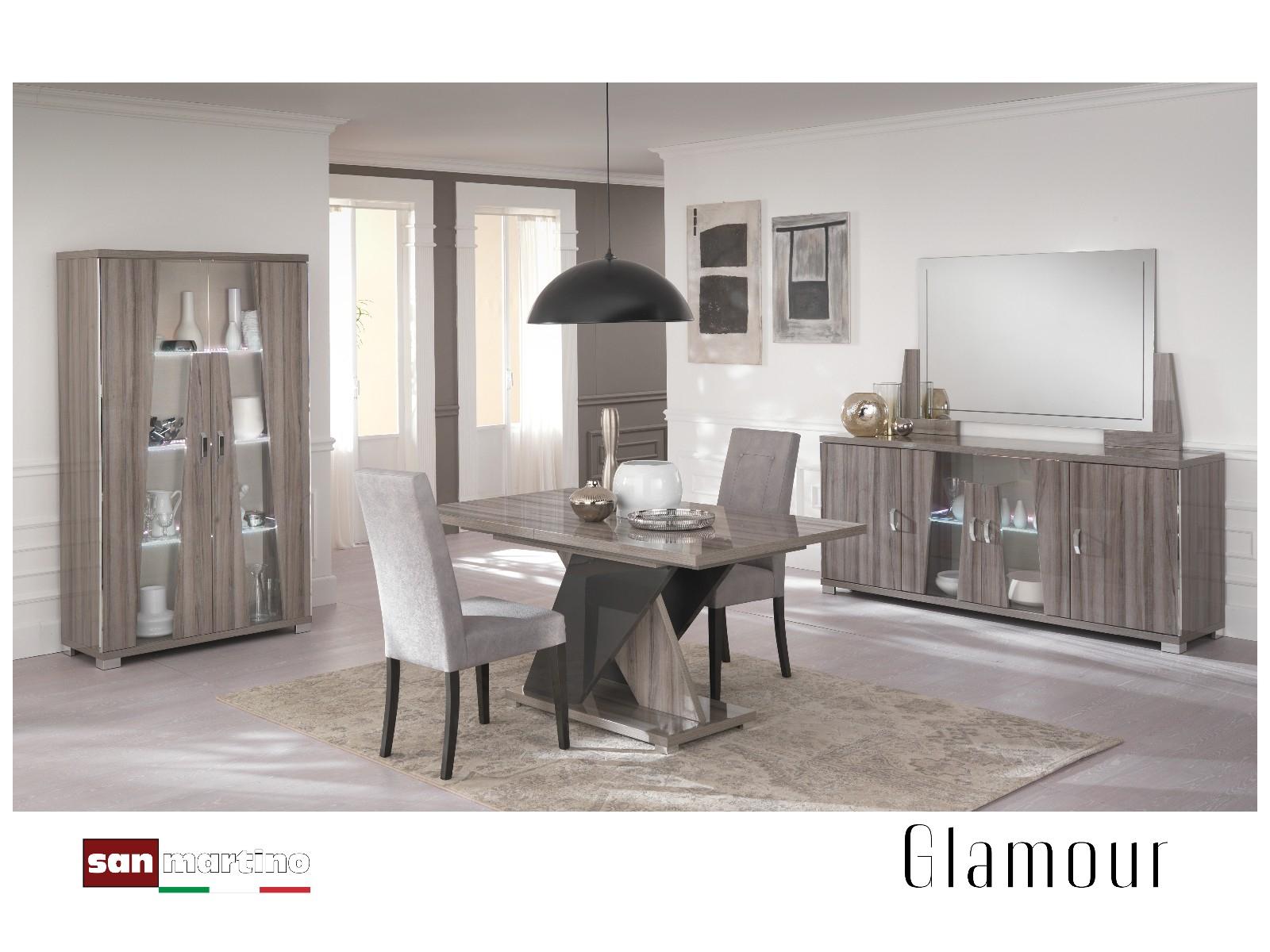 San Martino Glamour Grey Walnut Lamp Table Regarding 2018 Martino Dining Tables (View 17 of 25)