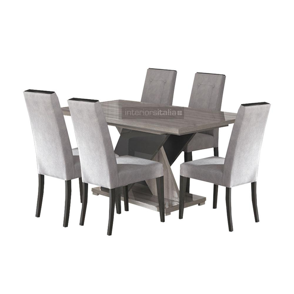 San Martino Glamour Modern Italian Extending Dining Set – Leather Dining Chairs In 2018 Martino Dining Tables (View 16 of 25)