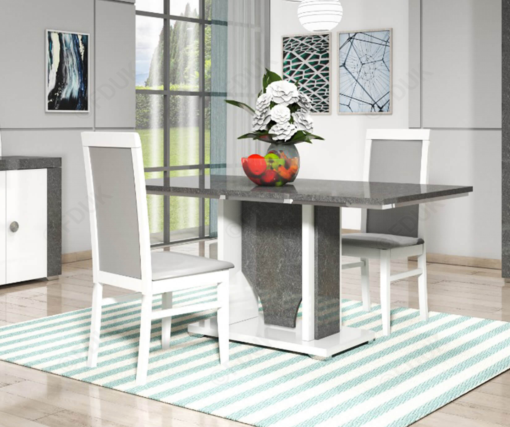 San Martino Linux Rectangular Dining Table Only With 2018 Martino Dining Tables (View 10 of 25)