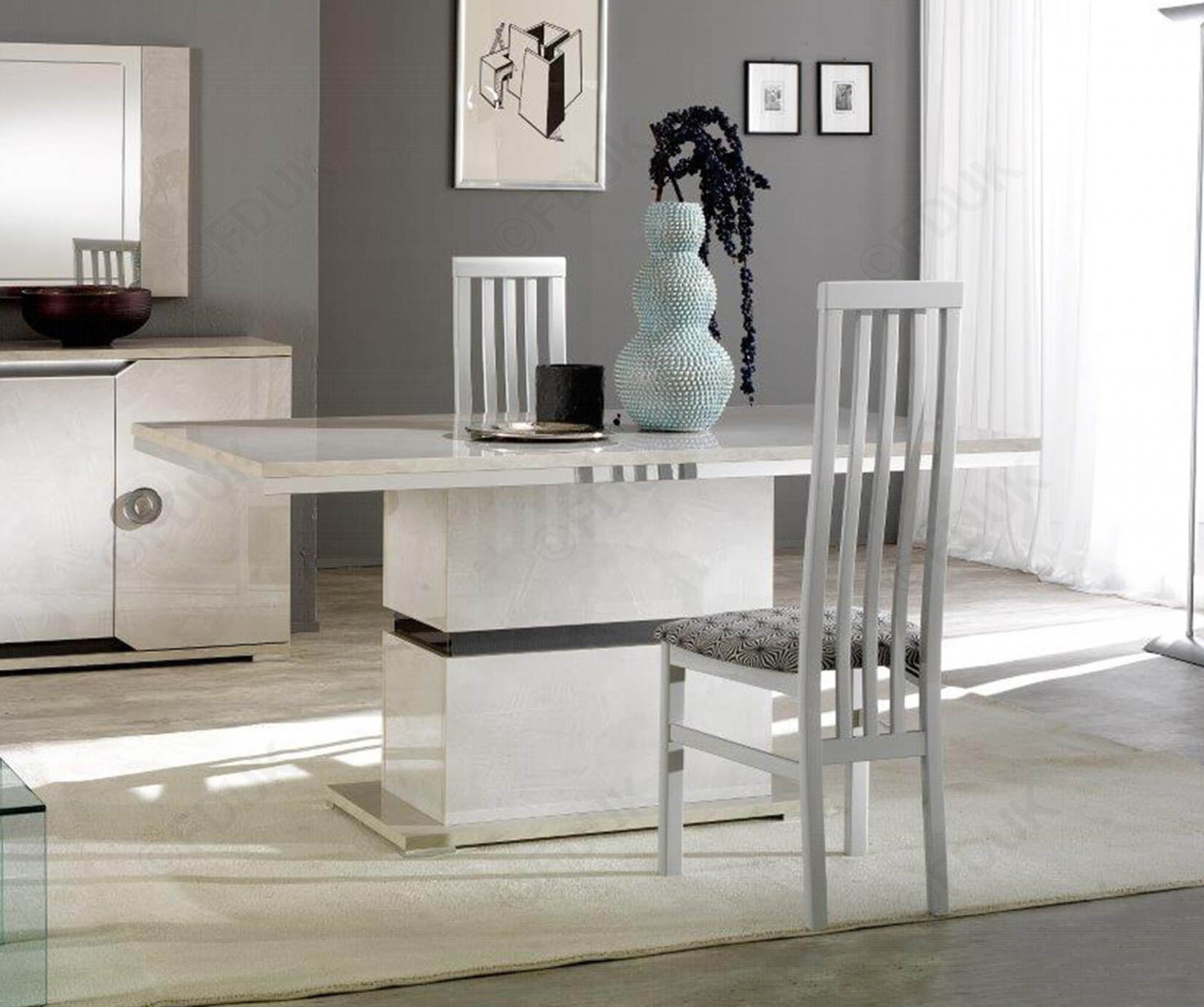 San Martino Mistral Rectangular Dining Table With 4 High Back Dining Chairs Regarding Most Recently Released Martino Dining Tables (View 7 of 25)