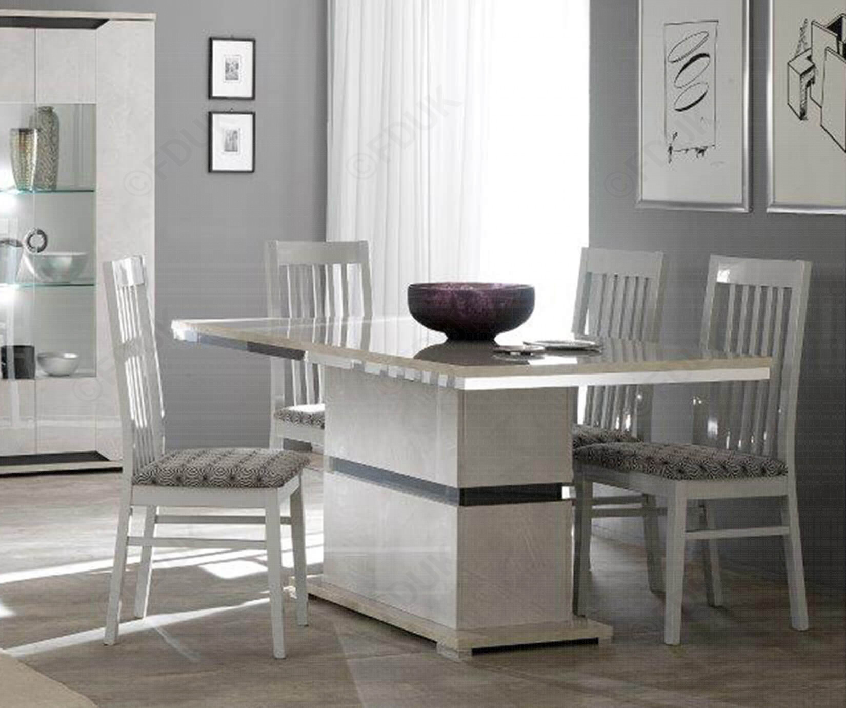 San Martino Mistral Rectangular Dining Table With 4 Wooden Dining Chairs Within Newest Martino Dining Tables (View 3 of 25)