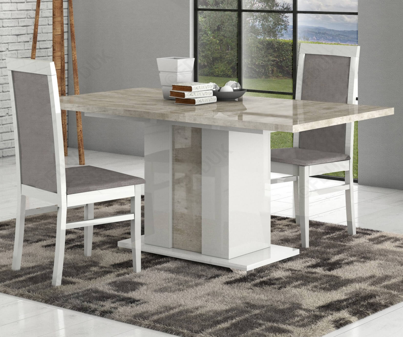 San Martino Palladio Rectangular Extension Dining Table With 6 Chairs With Regard To Most Recent Martino Dining Tables (View 9 of 25)