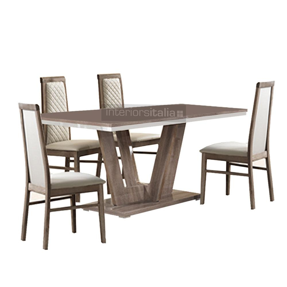 San Martino Victor Modern Italian Dining Set – Fixed Top Intended For Most Up To Date Martino Dining Tables (View 18 of 25)