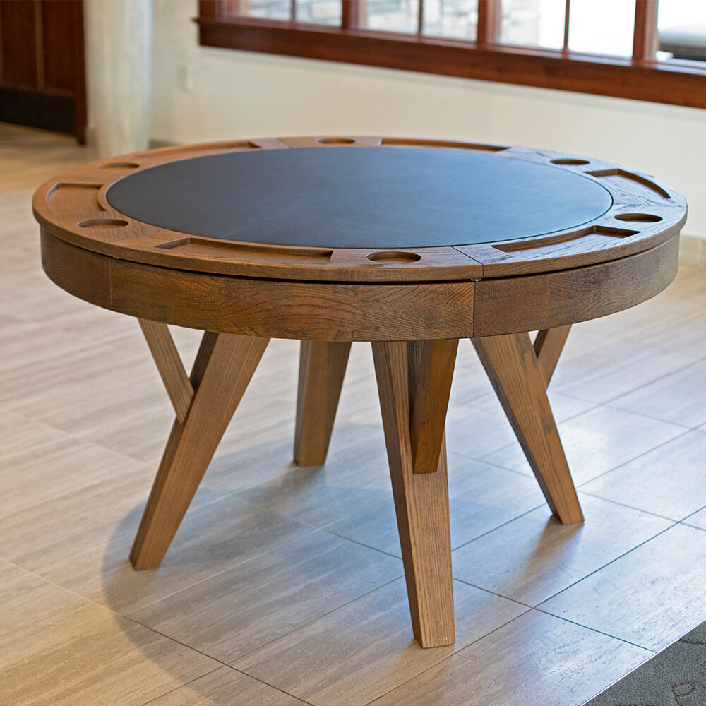 Santa Barbara Two In One Round Dining Table In Recent Cleary Oval Dining Pedestal Tables (View 15 of 25)