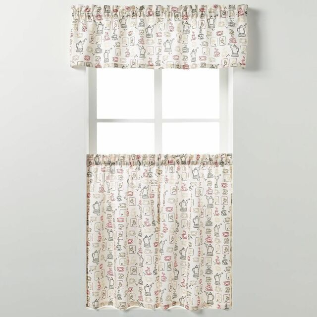 "Saturday Knight Ltd Tier Curtain & Valance Set 58"" Wide Inside Dexter 24 Inch Tier Pairs In Green (View 15 of 25)"