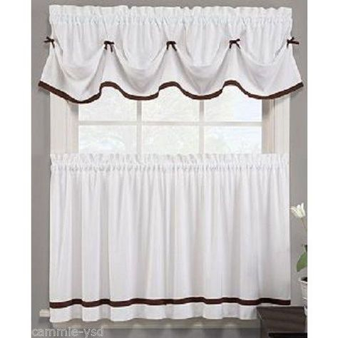 Featured Image of Classic Black And White Curtain Tiers