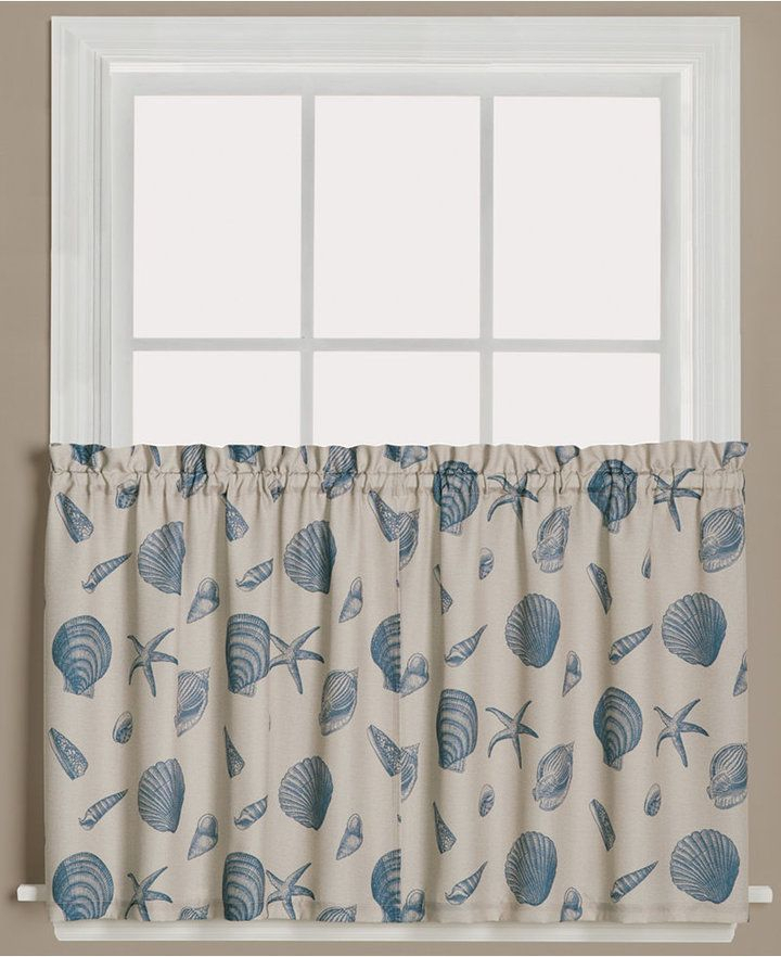"""Saturday Knight Seychelles Graphic Print Pair Of 29"""" X 36 Intended For Tranquility Curtain Tier Pairs (View 12 of 25)"""