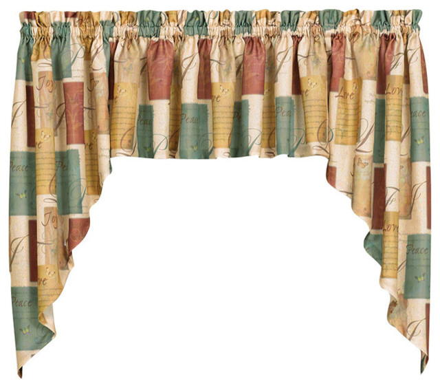 """Saturday Knight Tranquility 35"""" Swag Pair Pertaining To Tranquility Curtain Tier Pairs (View 9 of 25)"""