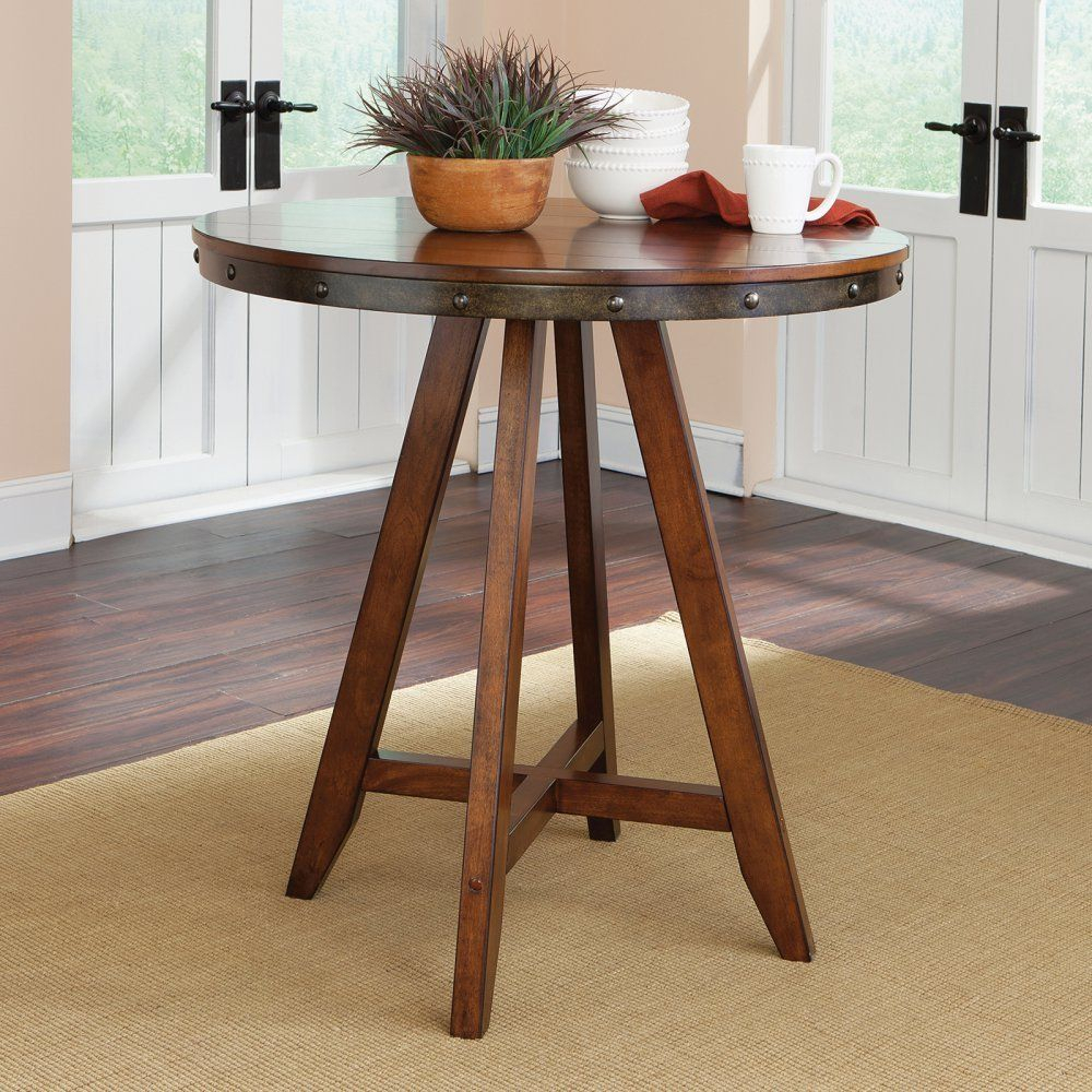 Sauder Carson Forge Round Counter Height Table In Washington Regarding Most Current Carson Counter Height Tables (View 3 of 25)