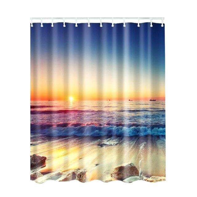 Sea Side Shower Curtain – Devreklam (View 7 of 25)