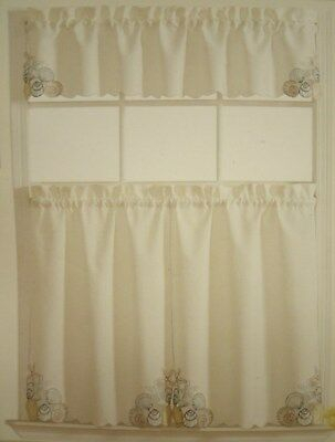 Sea Turtle Window Tier & Valance Set – Nautical Beach In Coastal Tier And Valance Window Curtain Sets (Image 20 of 25)