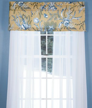 Seascape Toile Tailored Valance | For The Home | Country With Regard To Tailored Toppers With Valances (View 4 of 25)