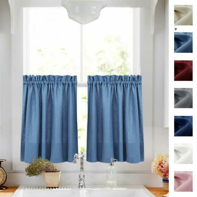 Semi Sheer Short Curtains Rod Pocket Kitchen Tier Cafe Curtains, 2 Panel With Serene Rod Pocket Kitchen Tier Sets (View 7 of 25)
