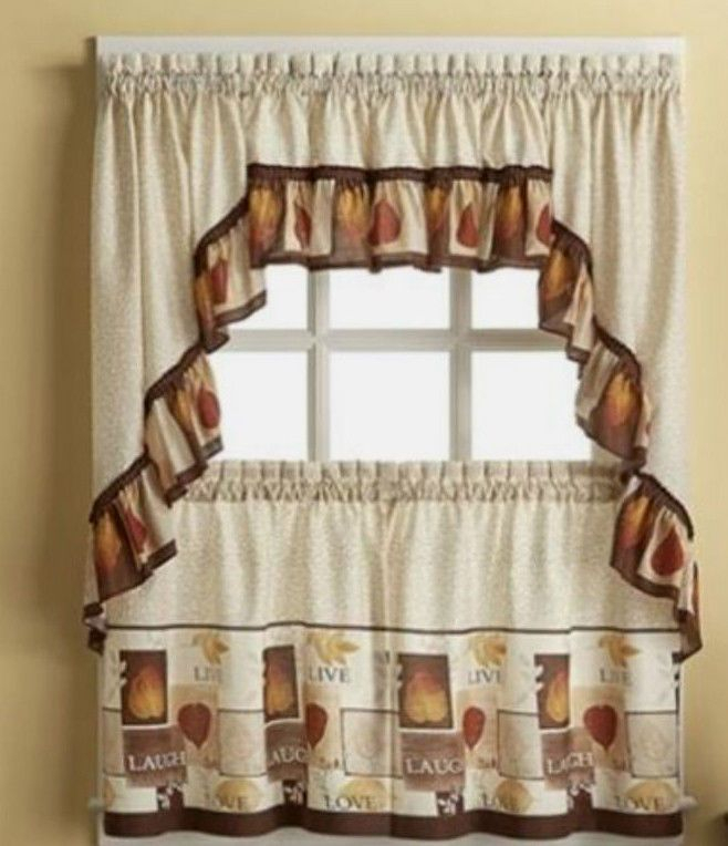 Sentiments Live Laugh Love Kitchen Tiers & Swag Valance Intended For Luxurious Kitchen Curtains Tiers, Shade Or Valances (View 22 of 25)