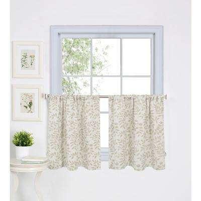 Serene Kitchen Tier Set Of 2 With Regard To Twill 3 Piece Kitchen Curtain Tier Sets (View 22 of 25)