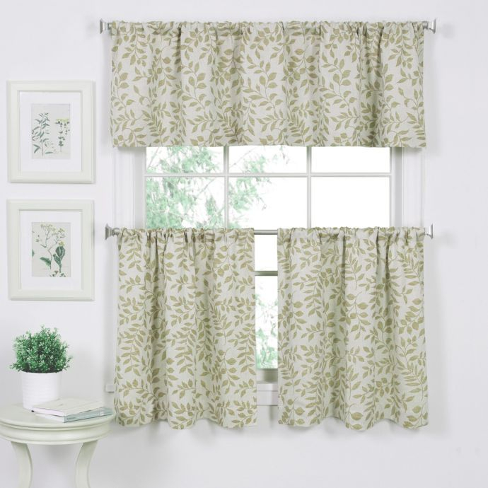 Serene Window Curtain Valance In Sage In 2019 | Curtains Intended For Serene Rod Pocket Kitchen Tier Sets (View 5 of 25)