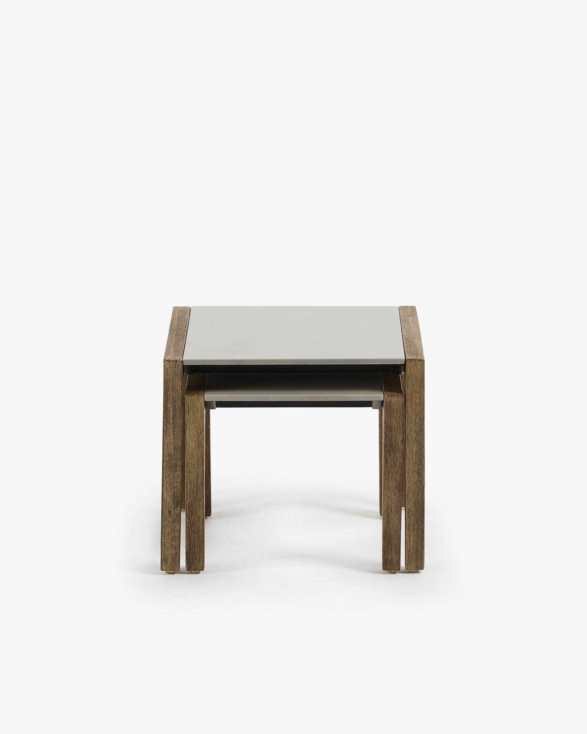 Set Clodie Of 2 Side Tables   Kave Home Within Latest Alfresco Brown Banks Extending Dining Tables (View 25 of 25)