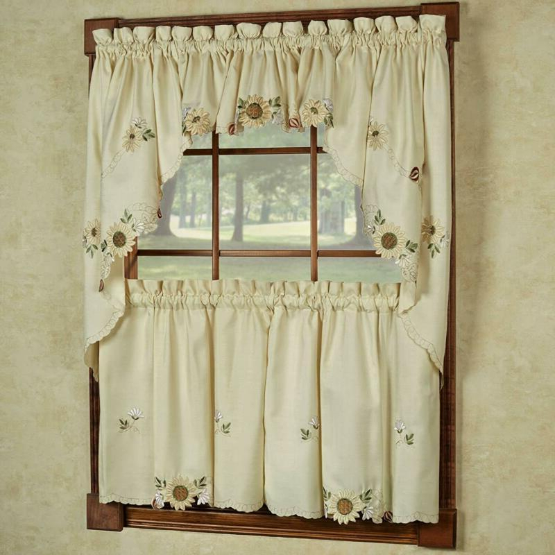Set Kitchen Curtains | Kitchencurtains For Embroidered Floral 5 Piece Kitchen Curtain Sets (View 22 of 25)